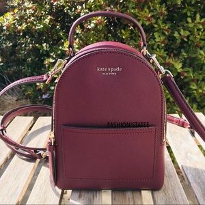 kate spade mini convertible backpack cherrywood
